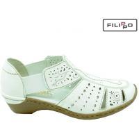 Sandały RIEKER 48367-80 WHITE 8017795