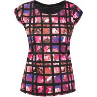 Monnari T-shirt z kwiatowymi kwadratami TSH4070