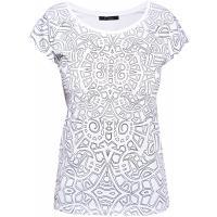 Monnari T-shirt ze szkicowanym wzorem TSH4170