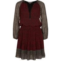 MICHAEL Michael Kors Sukienka koszulowa red currant/black MK121C02S-G11