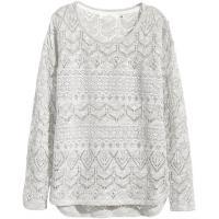 H&M Wzorzysty sweter 42191-B