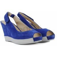 BRONX Sandały na koturnie niebieskie 831833