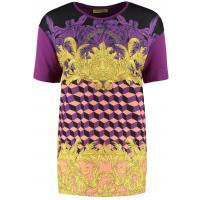 Versace Jeans T-shirt z nadrukiem viola brillante 1VJ21D00V-I11