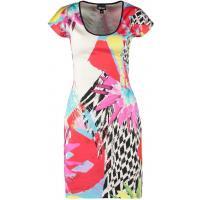 Just Cavalli Sukienka letnia white/red/turquoise JU621C043-A11