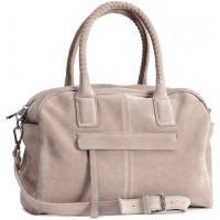 H&M Zamszowa torba bowlingowa 0249456001 Beżowy