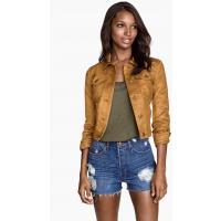 H&M Imitation suede jacket 0289087001 Dark beige