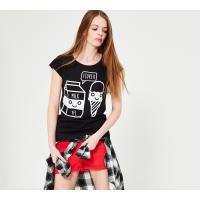 Reserved T-shirt YFL z nadrukiem LH582-99X