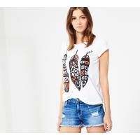 Reserved T-shirt YFL z nadrukiem LL456-00X