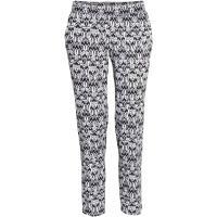 H&M Spodnie Loose fit 0316242001 Czarny/Biały/Wzór