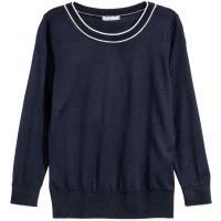 H&M Cienki sweter 0248531001 Ciemnoniebieski