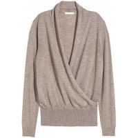 H&M Cienki sweter 0217344001 Jasny szaroczarny