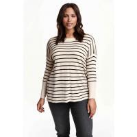 H&M H&M+ Cienki sweter 0292436008 Czarny/Paski