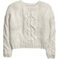 H&M Cable-knit jumper 0328668001 Light grey