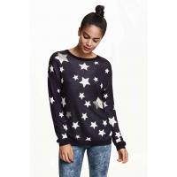 H&M Sweter 0323914004 Ciemnoniebieski/Gwiazdy