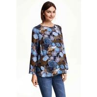 H&M MAMA Wzorzysta bluzka 0320511005 Czarny/Wzór