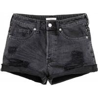 H&M Denim shorts Trashed 0348756006 Nearly black