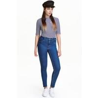 H&M Spodnie superstretch 0298273009 Niebieski denim