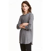 H&M T-shirt z długim rękawem 0311162007 Ciemnoszary melanż
