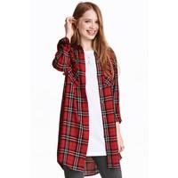 H&M Długa koszula 0398620005 Czerwony/Krata