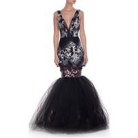 JAP Suknia z tiulem czarna