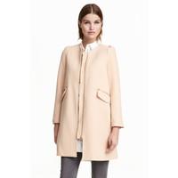 H&M Krótki płaszcz 0390169002 Pudrowobeżowy