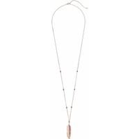 H&M Długi naszyjnik z wisiorkiem 0382706004 Różowe złoto
