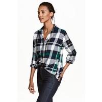 H&M Koszula flanelowa 0401484008 Zielony/Krata