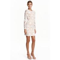 H&M Koronkowa sukienka 0426996001 Naturalna biel