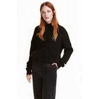 H&M Sweter z domieszką moheru 0425420001 Czarny