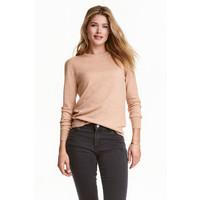 H&M Sweter z wełny merynosowej 0317458003 Beżowy melanż