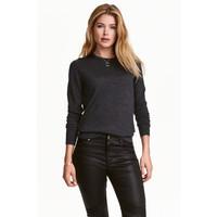 H&M Sweter z wełny merynosowej 0317458009 Ciemnoszary melanż