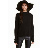 H&M Sweter w prążki 0405442001 Czarny