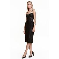 H&M Koronkowa sukienka 0437412002 Czarny
