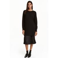 H&M Kaszmirowy sweter 0409456004 Czarny