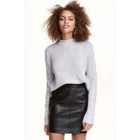 H&M Sweter w prążki 0405442008 Szary melanż