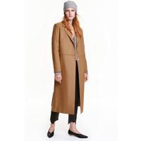 H&M Płaszcz z domieszką wełny 0416517001 Camel