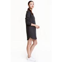 H&M Sukienka z dzianiny dresowej 0377197008 Ciemnoszary melanż