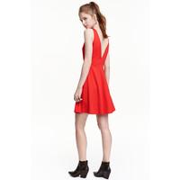 H&M Krótka sukienka 0429269009 Czerwony