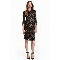 H&M MAMA Koronkowa sukienka 0401976001 Czarny