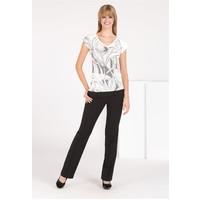 Monnari T-shirt z kwiatowym wzorem i dżetami TSHIMP0-16J-TSH4490-KM00D002-R0S
