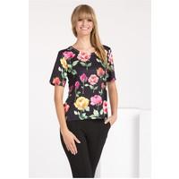 Monnari T-shirt w wielobarwne kwiaty TSHIMP0-16J-TSH4280-KM20D004-R0S