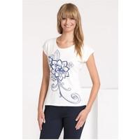 Monnari T-shirt z nadrukiem w kwiaty TSHIMP0-16J-TSH4540-KM00D004-R0S