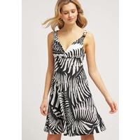 Just Cavalli Sukienka letnia black/white JU621C05A