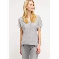 Vila VIBUZZ T-shirt z nadrukiem light grey melange/white V1021D0BO