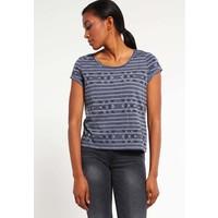 Q/S designed by T-shirt z nadrukiem dusty blue QS121D0ET