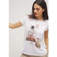Q/S designed by T-shirt z nadrukiem white QS121D0DQ