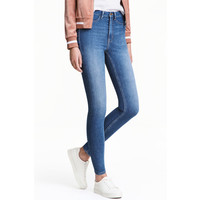 H&M Super Skinny High Jeans 0298273036 Jasnoniebieski denim
