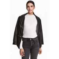 H&M Sweter w prążki 0453762002 Biały