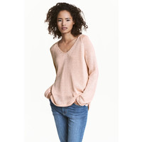 H&M Sweter 0250582014 Jasnoróżowy
