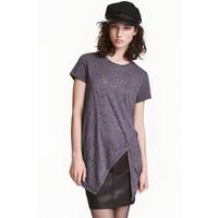 H&M T-shirt z ażurowym wzorem 0429567005 Ciemnoszary